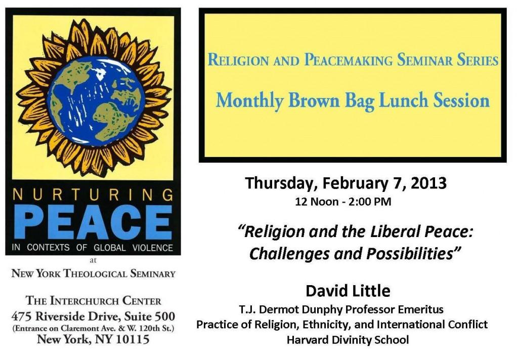 Peaceconference seminar 020713