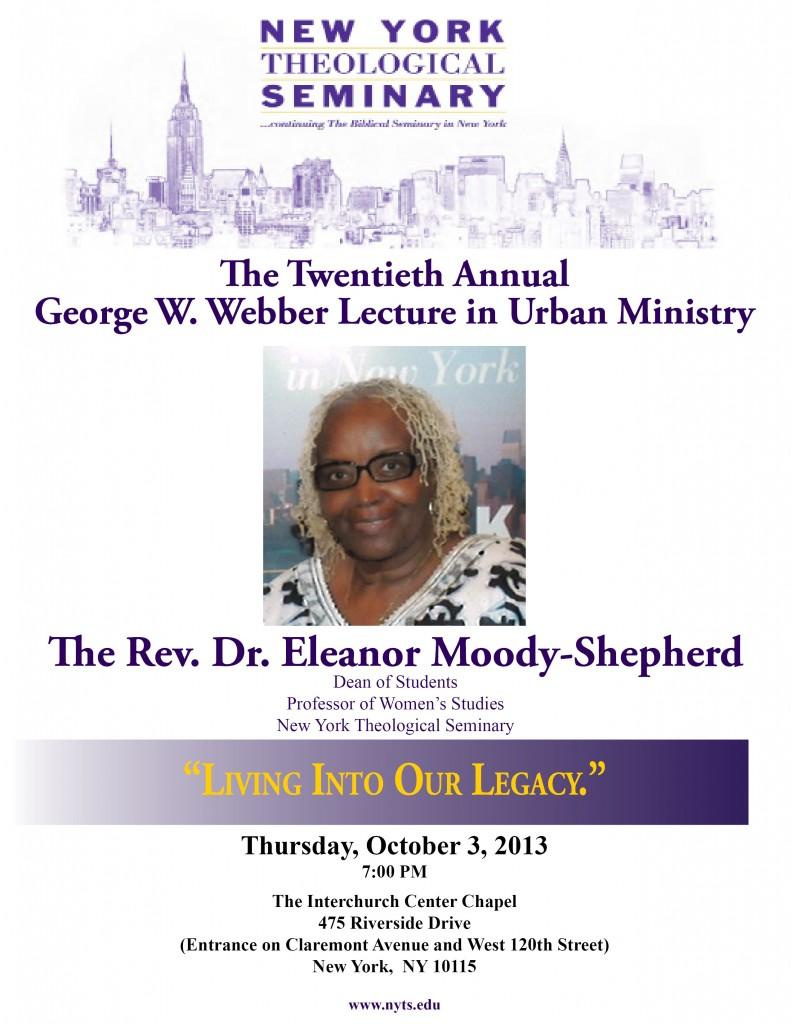 2013 Webber Lecture Flyer