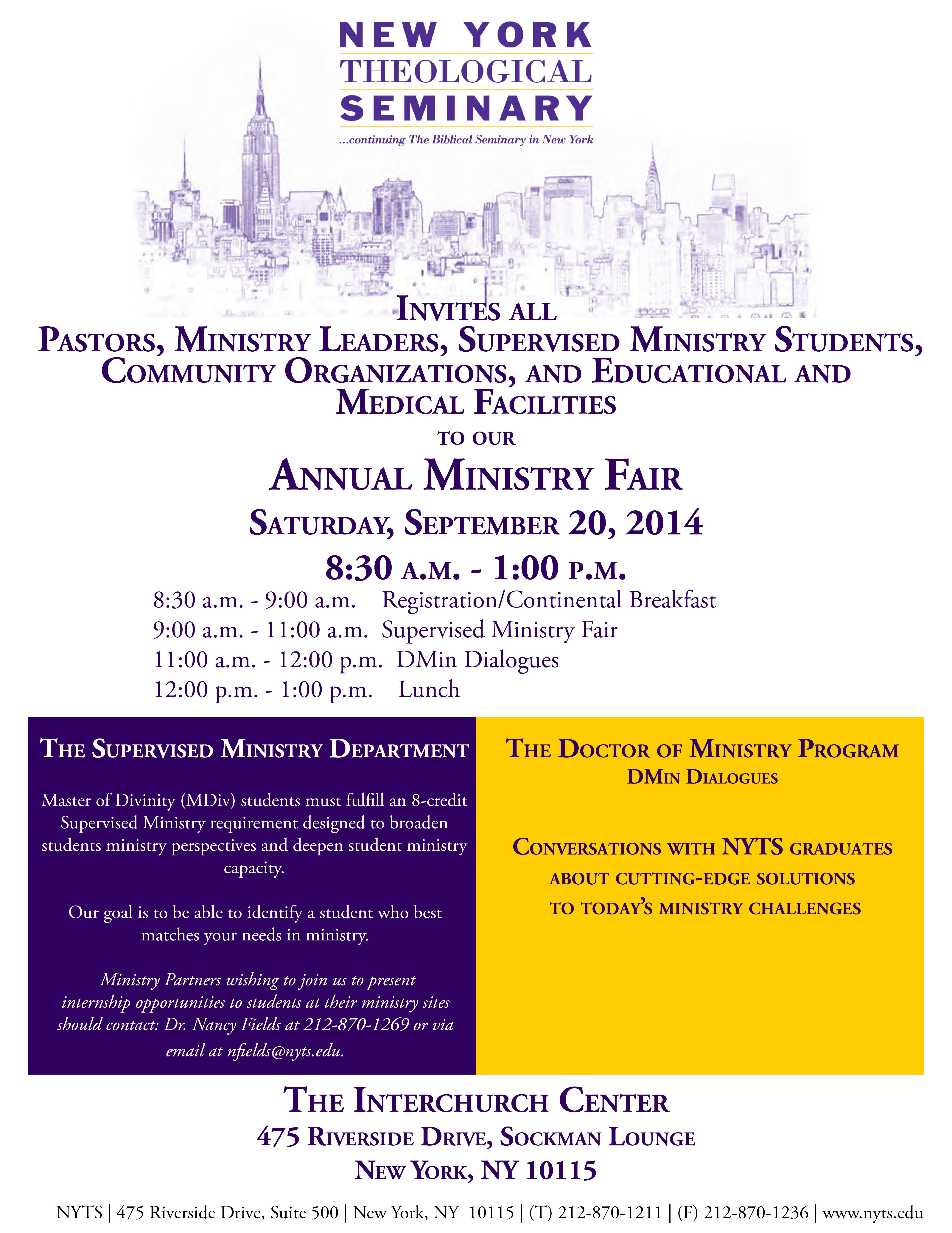 Annual Ministry Fair 2014