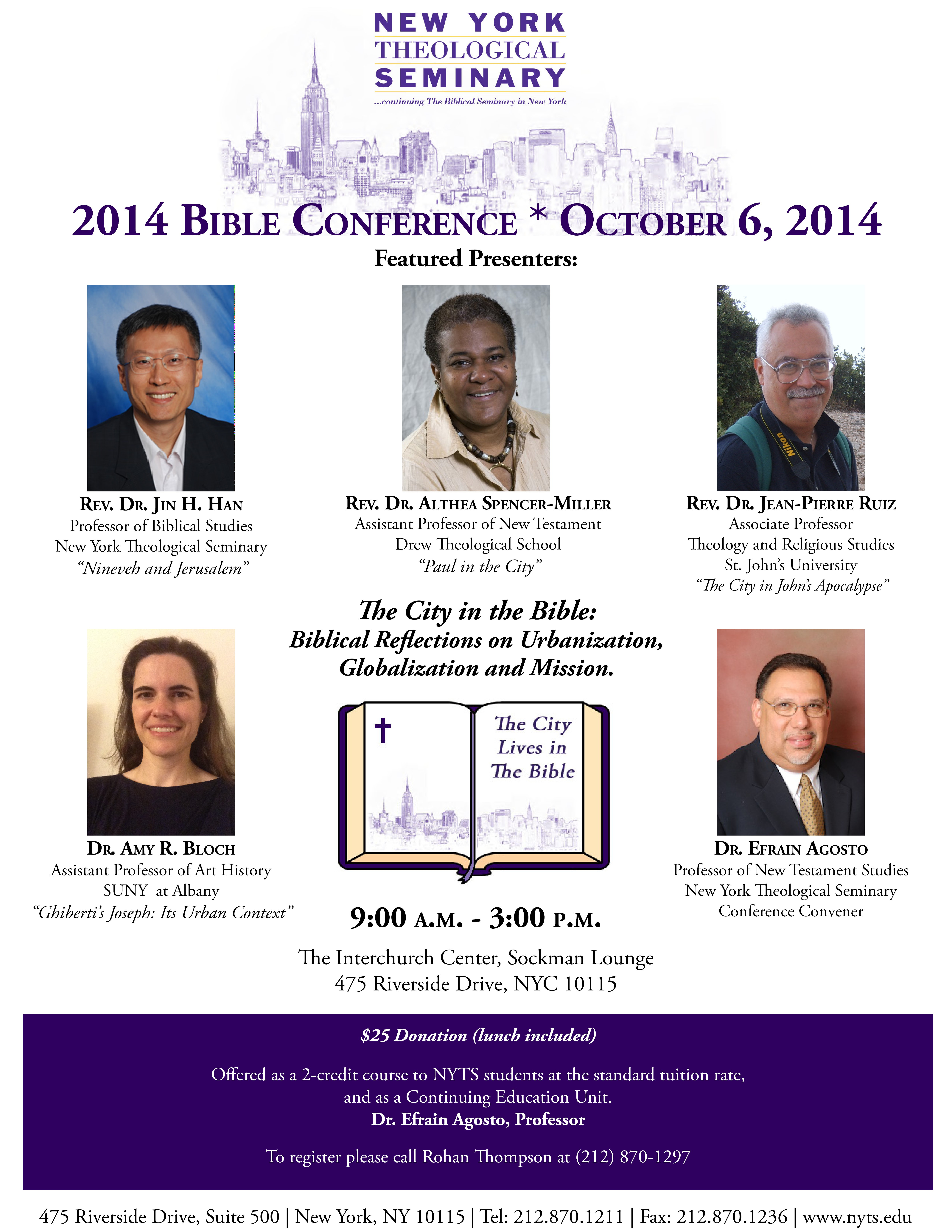 Bible Conference 2014 Flyer