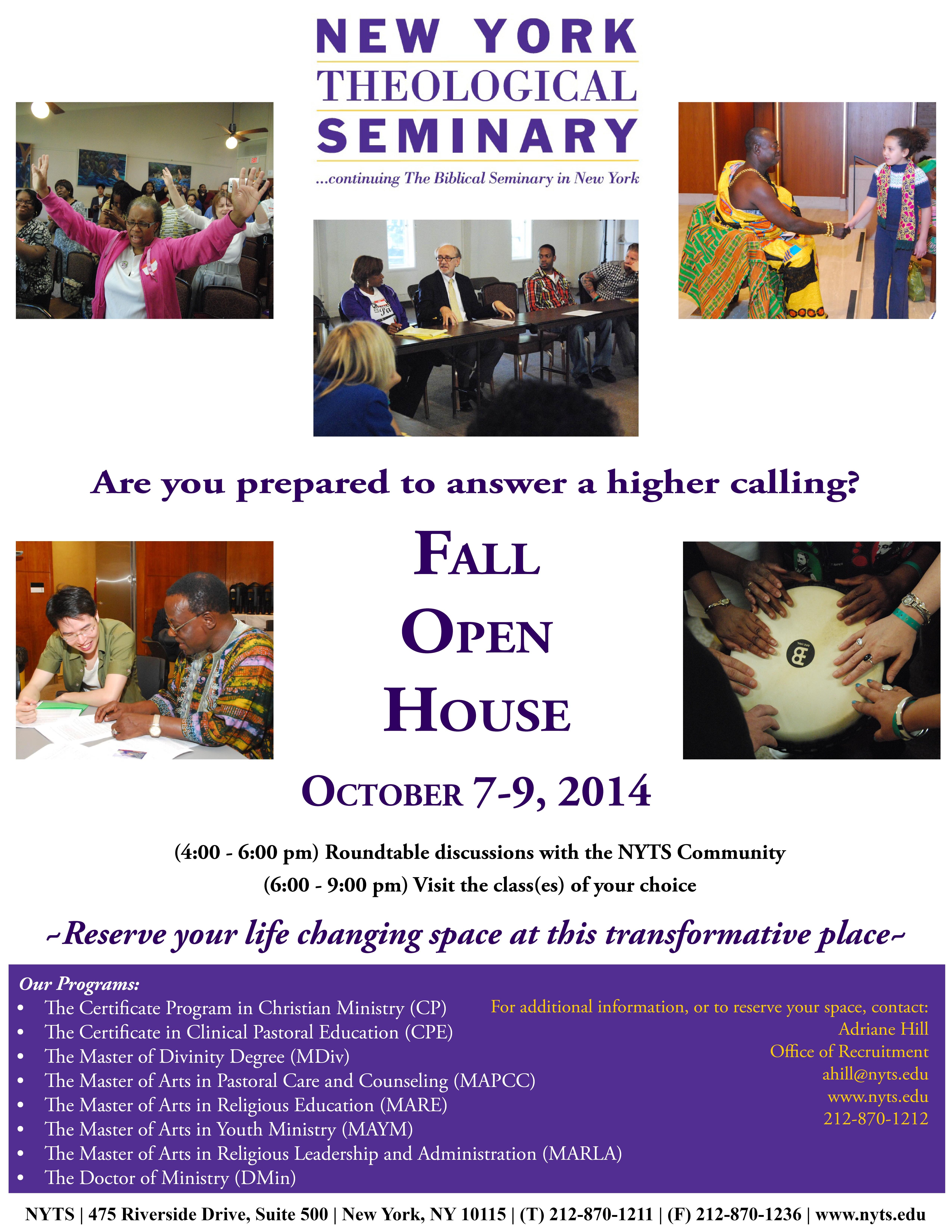 Open House Fall 2014EDIT