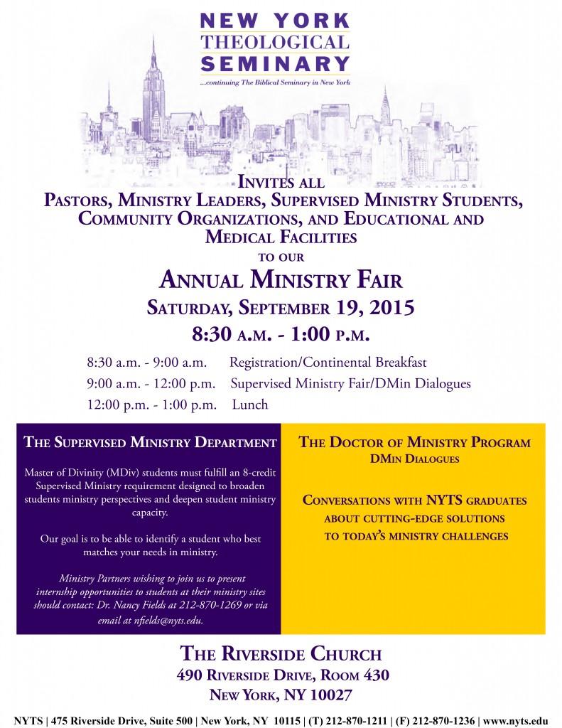 Annual Ministry Fair 2015 Draft 2