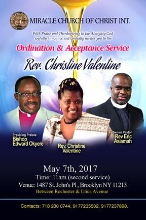 CHRISTINE VALENTINE ORDINATION