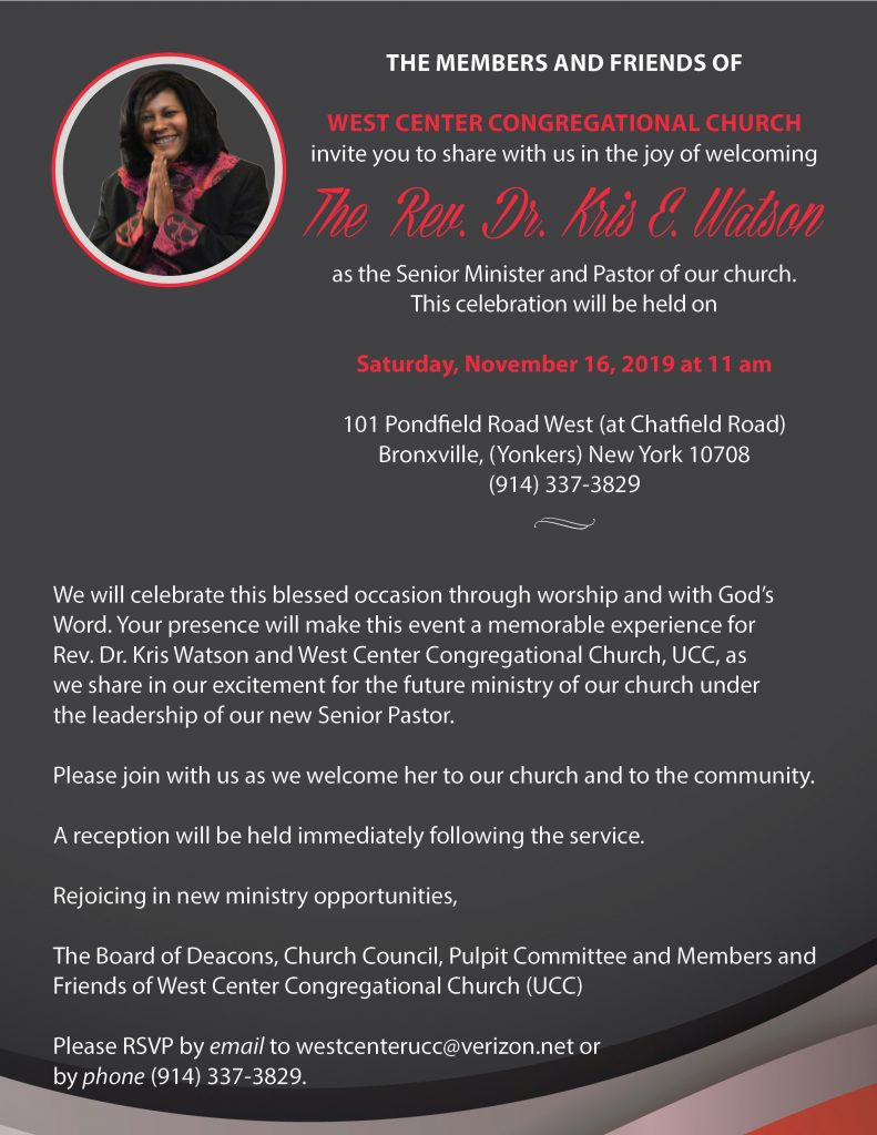 Ordination Invitation for Rev Dr. Watson(1)
